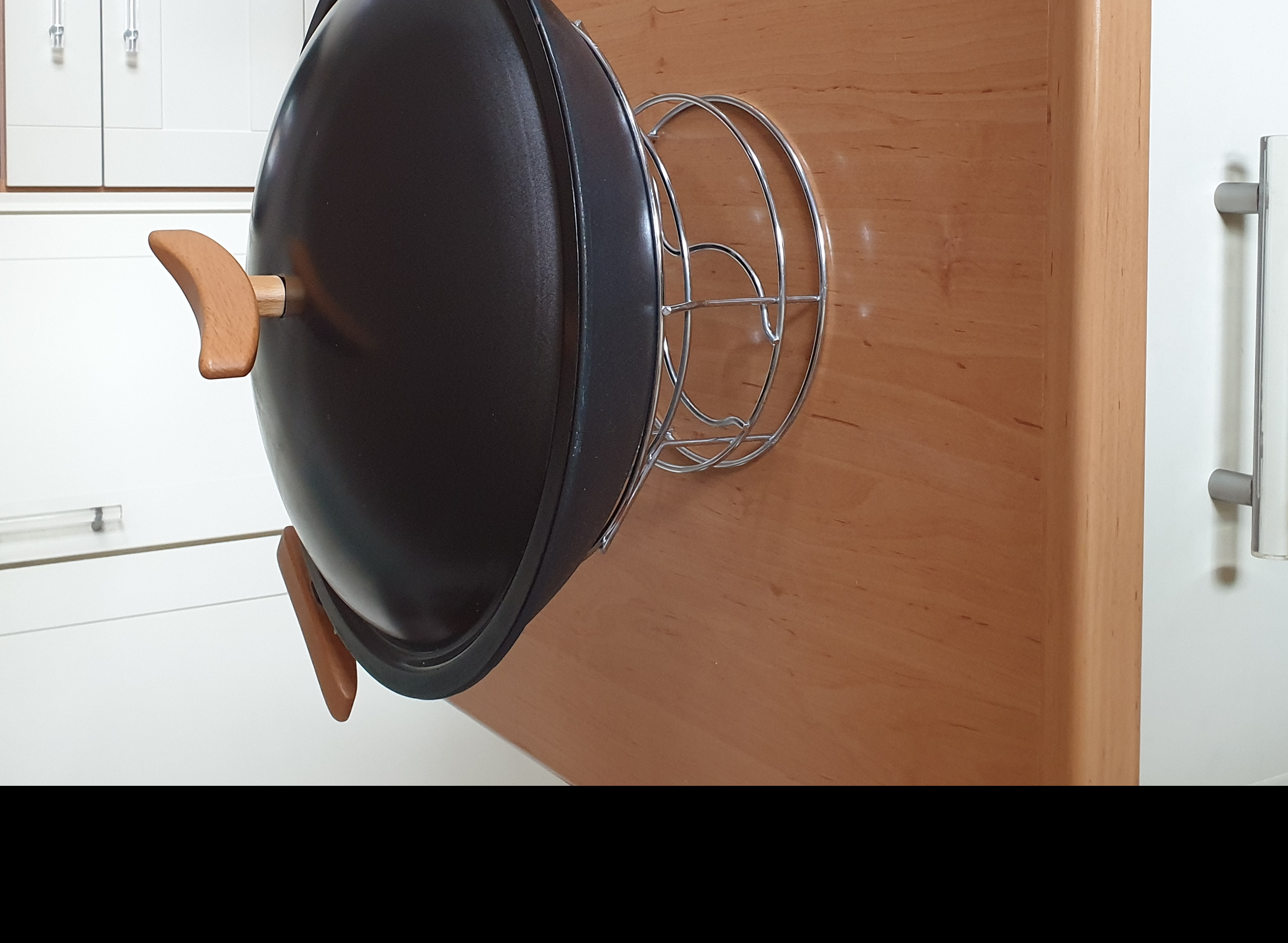 Guss-Wok Set Marke Spring, 5-tlg., 35 cm, 4 l, gebraucht
