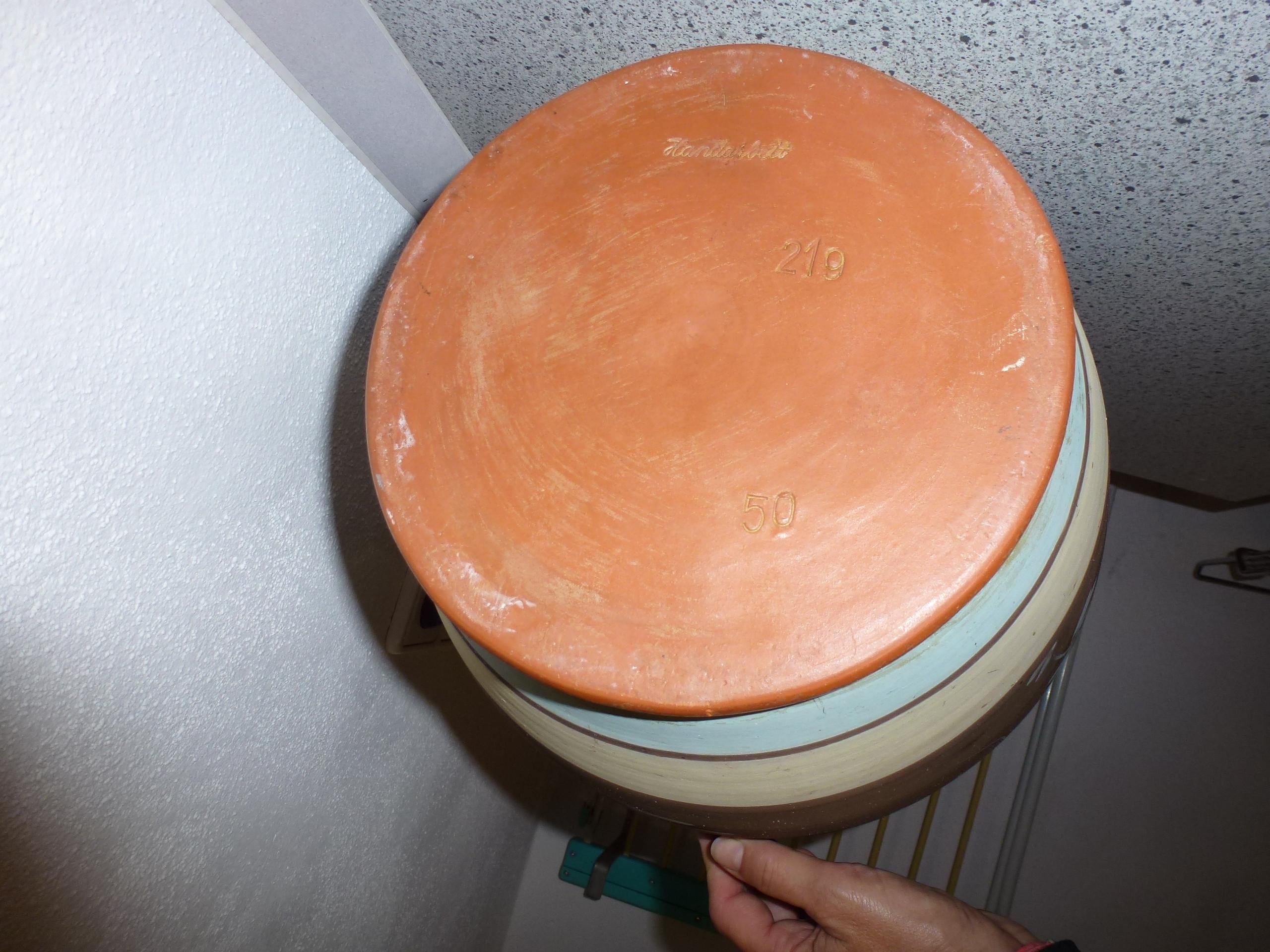 60er Jahre Bodenvase Handarbeit mit Blütenranken 50/219