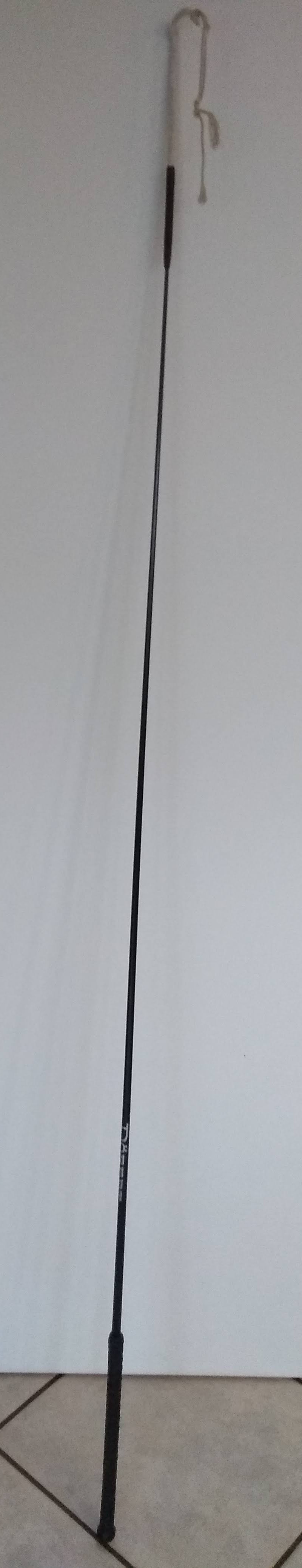 Döbert Bodenarbeitsgerte mit Ledergriff 1,50 m schwarz-neuwertig