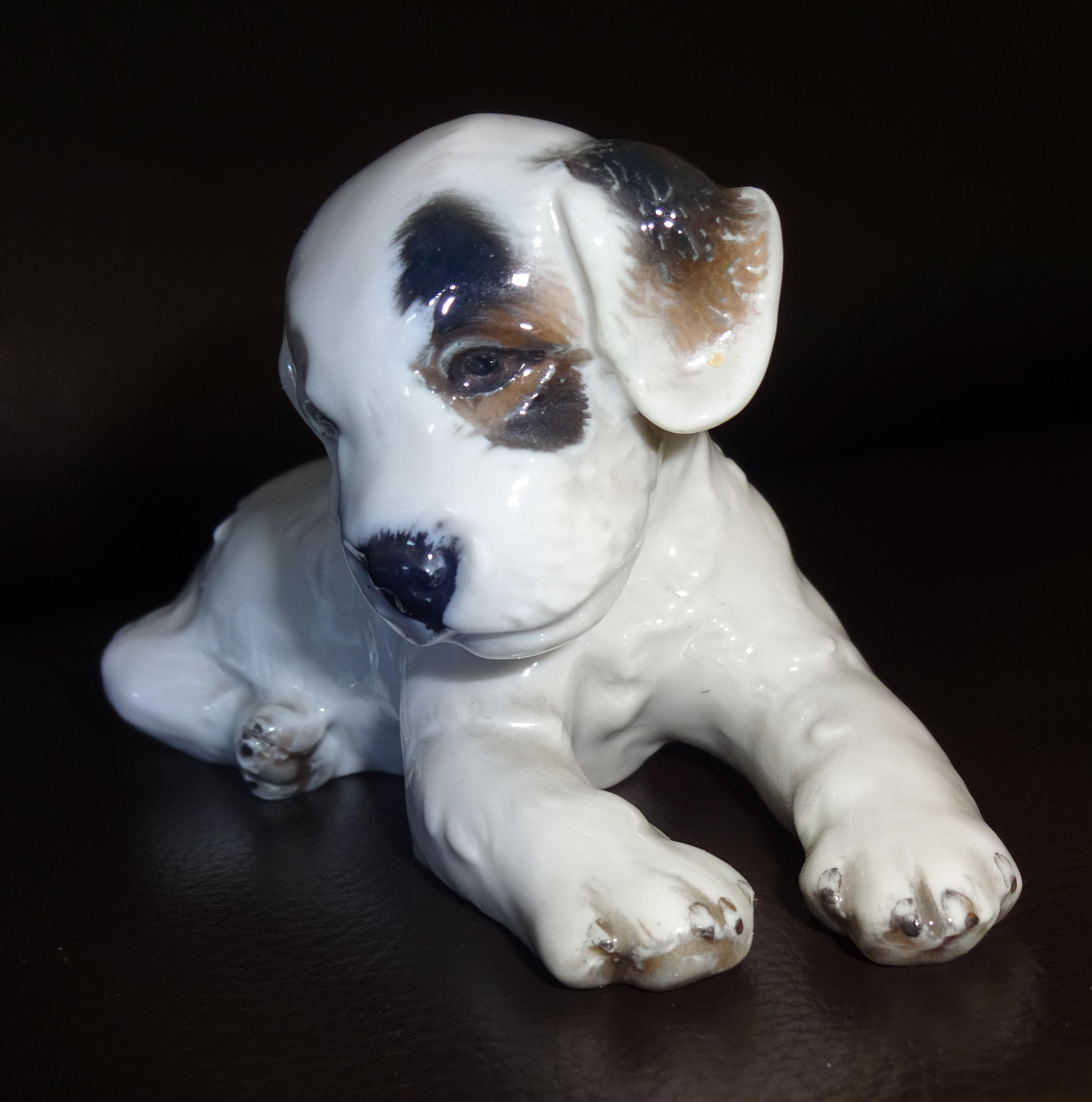 Rosenthal Porzellanfigur Welpe Terrier handgemalt Rarität
