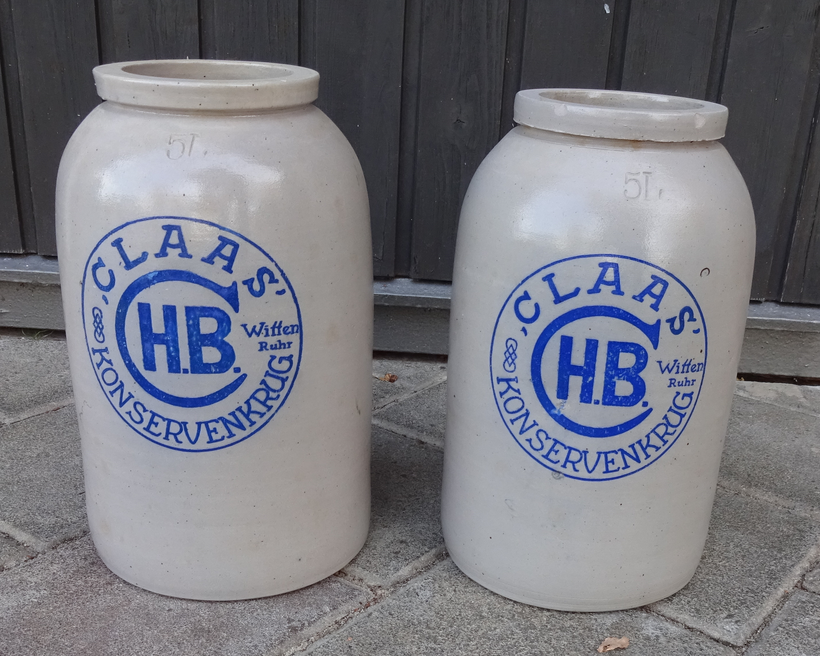 Konservenkrug Keramik 5 L Claas HB Witten Ruhr- Rarität