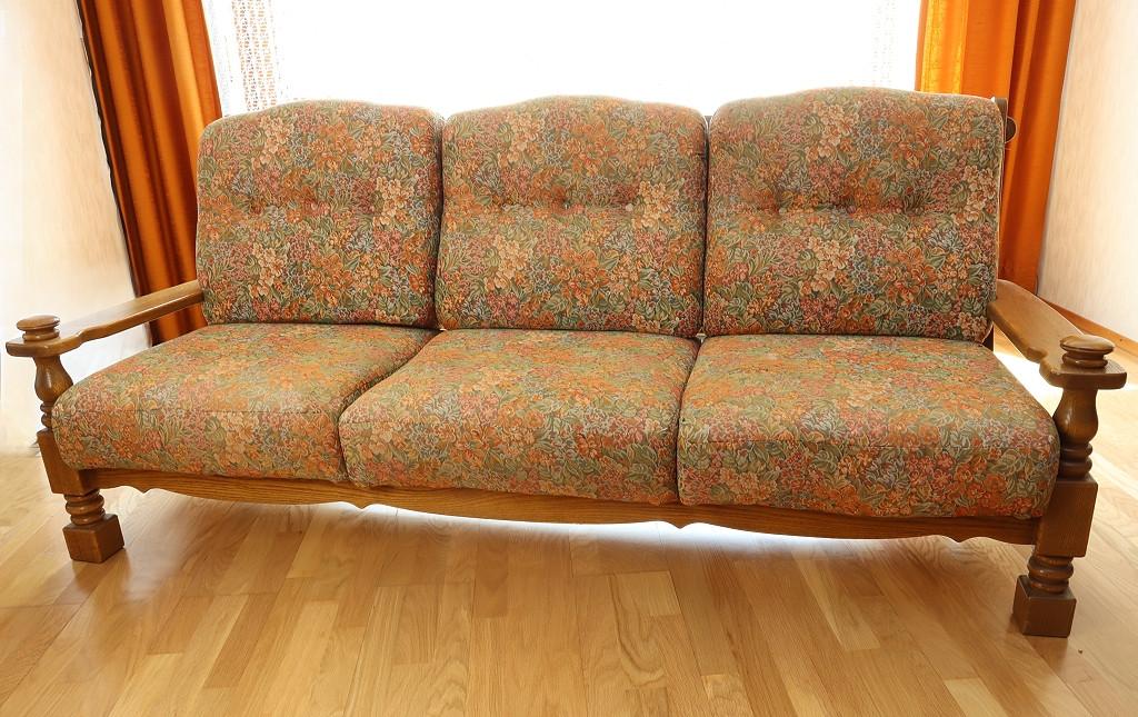 Sofa | 3-Sitzer | Massivholz | 205 cm breit