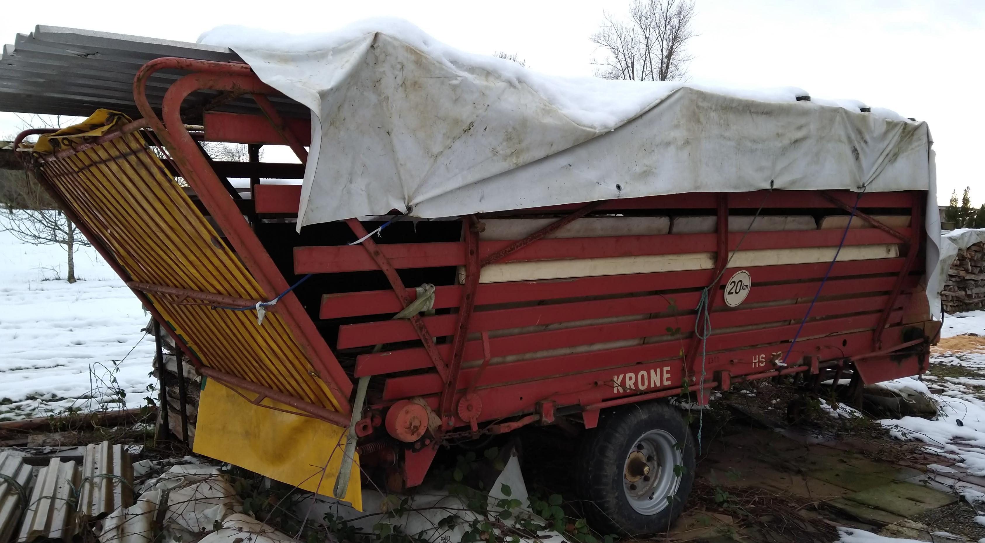 Ladewagen KRONE für Brennholz