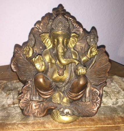 Religiöse Figur Sculptur Metall