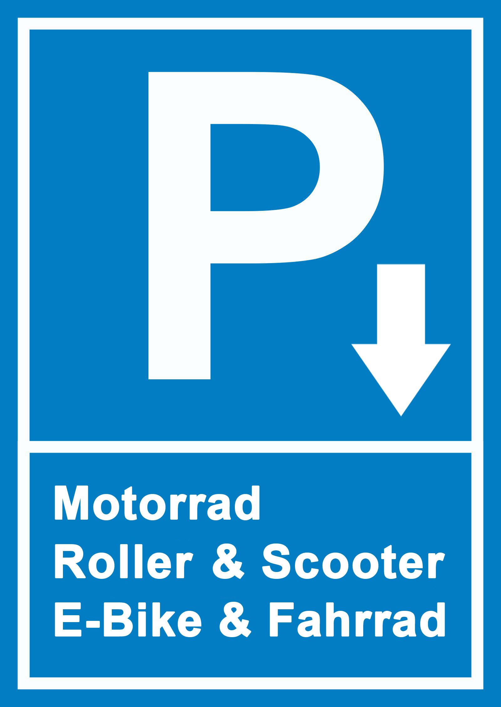 Stellplätze für Motorrad, Roller, Scooter, E-Bike, Mountainbike
